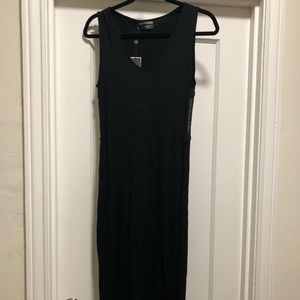 NWT Religion black maxi dress with sheer panels